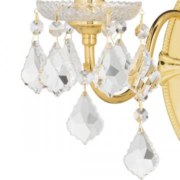 Бра Lightstar Osgona Classic 700622, 2xE14x60W, золото, прозрачный, металл с хрусталем, хрусталь - миниатюра 4