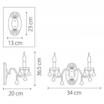 Схема с размерами Lightstar Osgona 700622