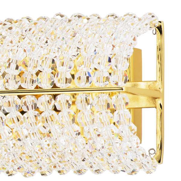 Бра Lightstar Osgona Monile 704642, 4xE14x40W, золото, прозрачный, металл, хрусталь - фото 4