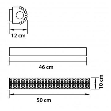 Схема с размерами Lightstar Osgona 704642