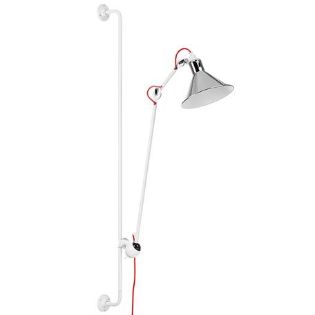 Бра с регулировкой направления света Lightstar Loft 765624, 1xE14x40W, хром, красный, металл