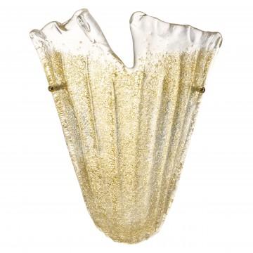 Настенный светильник Lightstar Murano 601613, 1xE14x40W, золото, янтарь, металл, стекло