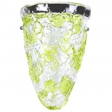 Настенный светильник Lightstar Murano 604624, 2xE14x40W, хром, зеленый, прозрачный, металл, стекло