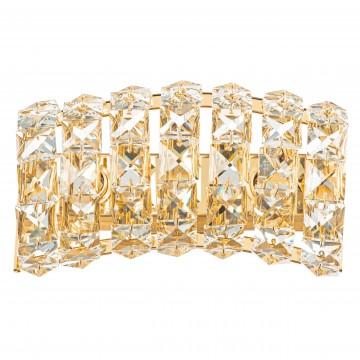 Настенный светильник Lightstar Onda 741622, 2xG9x40W, золото, прозрачный, металл, хрусталь