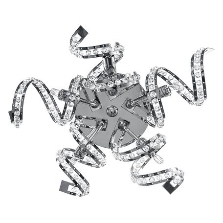 Настенный светильник Lightstar Spider 742654, 5xG9x40W, хром, прозрачный, металл, хрусталь