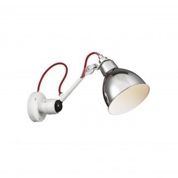 Настенный светильник Lightstar Loft 765604, 1xE14x40W, красный, хром, металл