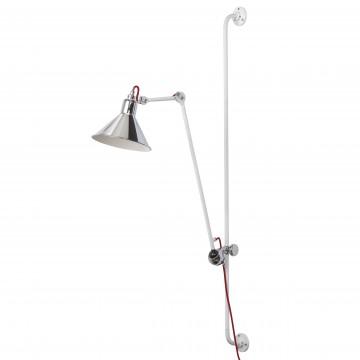 Настенный светильник Lightstar Loft 765624, 1xE14x40W, красный, хром, металл