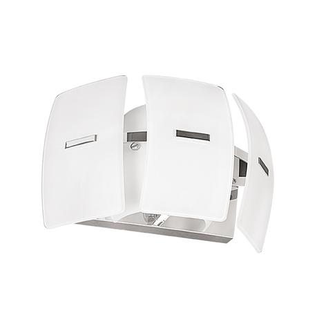 Настенный светильник Lightstar Lamella 801616, 1xE14x40W, хром, белый, металл, стекло