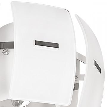 Настенный светильник Lightstar Lamella 801616, 1xE14x40W, хром, белый, металл, стекло - миниатюра 2