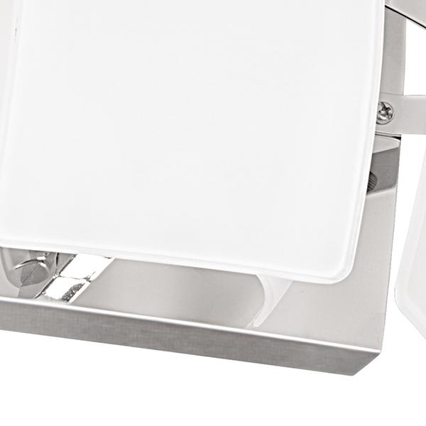 Настенный светильник Lightstar Lamella 801616, 1xE14x40W, хром, белый, металл, стекло - фото 3
