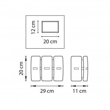 Схема с размерами Lightstar 801616