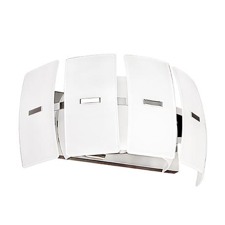 Настенный светильник Lightstar Lamella 801626, 2xE14x40W, хром, белый, металл, стекло