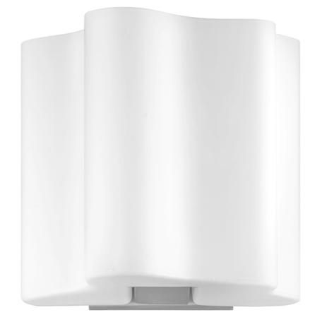 Настенный светильник Lightstar Nubi 802610, 1xE14x40W, матовый хром, белый, металл, стекло