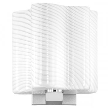 Настенный светильник Lightstar Nubi Ondoso 802611, 1xE14x40W, матовый хром, белый, металл, стекло