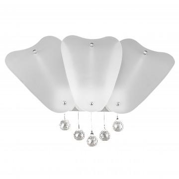 Настенный светильник Lightstar Lobo 804640, 2xG9x40W, хром, белый, прозрачный, металл, стекло, хрусталь