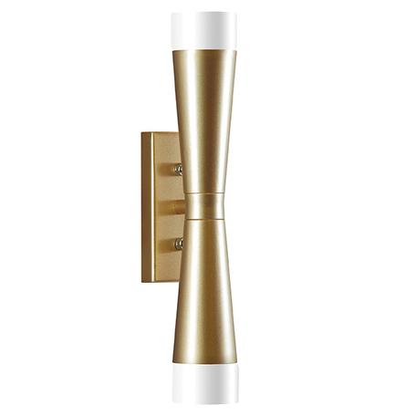 Настенный светильник Lightstar Punto 807623, 2xG9x10W, янтарь, матовое золото, металл