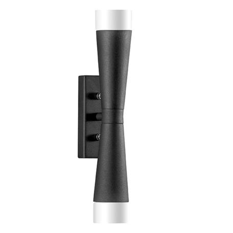 Настенный светильник Lightstar Punto 807627, 2xG9x10W, черный, белый, металл, стекло