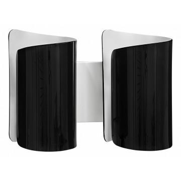 Настенный светильник Lightstar Pittore 811627, 2xE27x40W, белый, черный, металл, стекло