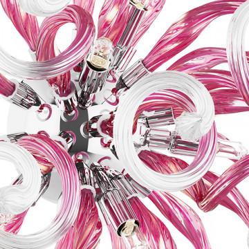 Настенный светильник Lightstar Medusa 890652, 5xG9x40W, хром, розовый, металл, стекло - миниатюра 2