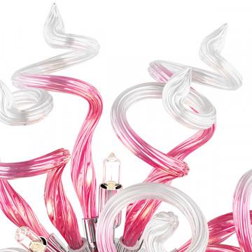 Настенный светильник Lightstar Medusa 890652, 5xG9x40W, хром, розовый, металл, стекло - миниатюра 4