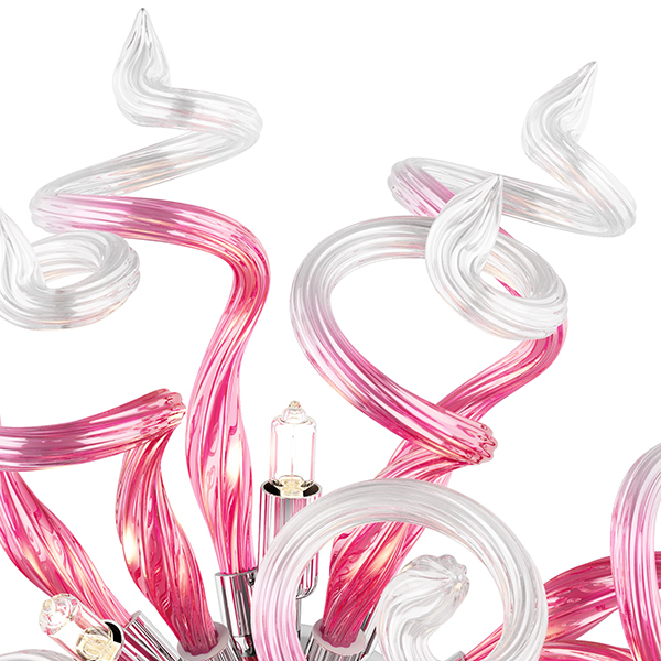 Настенный светильник Lightstar Medusa 890652, 5xG9x40W, хром, розовый, металл, стекло - фото 4