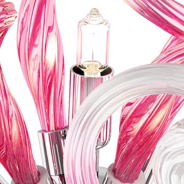 Настенный светильник Lightstar Medusa 890652, 5xG9x40W, хром, розовый, металл, стекло - фото 6