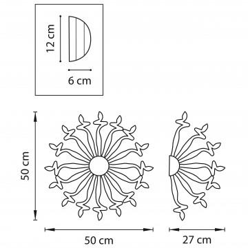 Схема с размерами Lightstar 890652