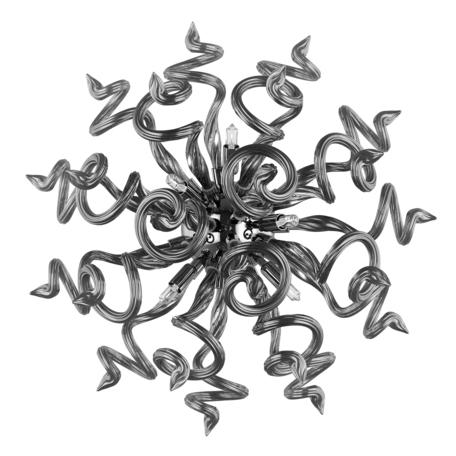 Настенный светильник Lightstar Medusa 890657, 5xG9x40W, хром, серый, металл, стекло