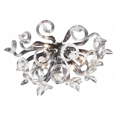Настенный светильник Lightstar Medusa 890659, 5xG9x40W, хром, дымчатый, прозрачный, металл, стекло