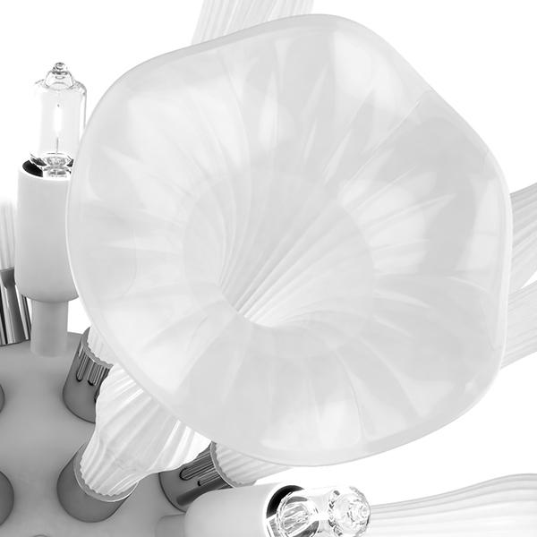 Настенный светильник Lightstar Bardano 891656, 5xG9x40W, хром, белый, металл, стекло - фото 4
