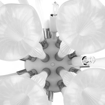 Настенный светильник Lightstar Bardano 891656, 5xG9x40W, хром, белый, металл, стекло - миниатюра 5