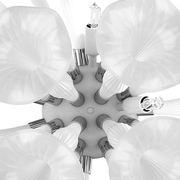 Настенный светильник Lightstar Bardano 891656, 5xG9x40W, хром, белый, металл, стекло - фото 5