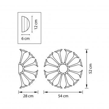 Схема с размерами Lightstar 891656