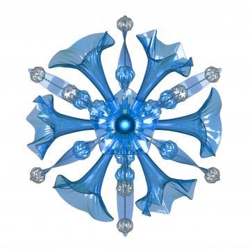 Настенный светильник Lightstar Celesta 893621, 6xG9x6W, хром, голубой, металл, стекло