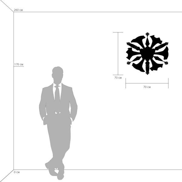 Настенный светильник Lightstar Celesta 893622, 6xG9x6W, хром, красный, металл, стекло - фото 2