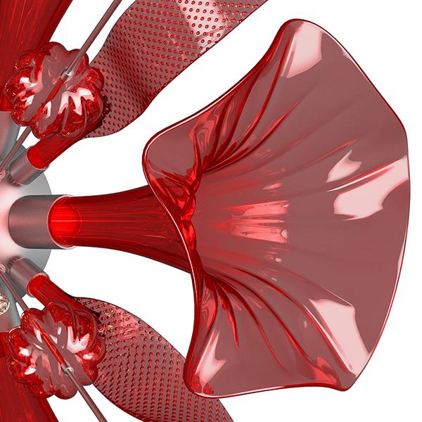 Настенный светильник Lightstar Celesta 893622, 6xG9x6W, хром, красный, металл, стекло - фото 4