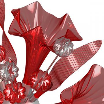 Настенный светильник Lightstar Celesta 893622, 6xG9x6W, хром, красный, металл, стекло - миниатюра 5