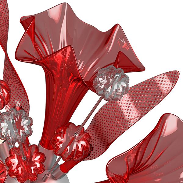 Настенный светильник Lightstar Celesta 893622, 6xG9x6W, хром, красный, металл, стекло - фото 5