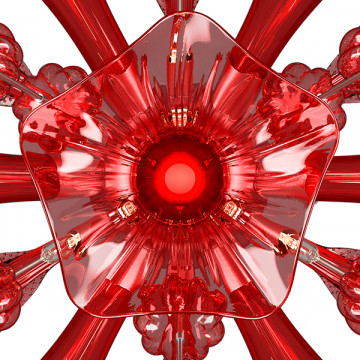 Настенный светильник Lightstar Celesta 893622, 6xG9x6W, хром, красный, металл, стекло - миниатюра 8