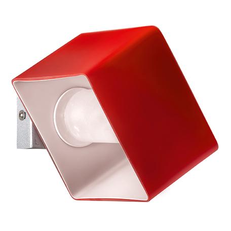 Настенный светильник Lightstar Pezzo 801612, 1xG9x40W, хром, красный, металл, стекло