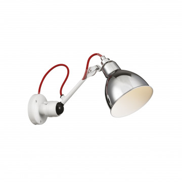 Бра с регулировкой направления света Lightstar Loft 765604, 1xE14x40W, хром, красный, металл