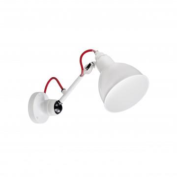 Бра с регулировкой направления света Lightstar Loft 765606, 1xE14x40W, белый, красный, металл