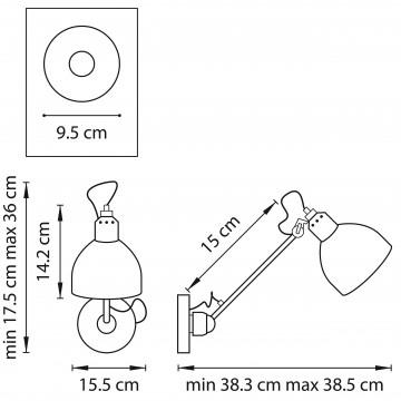 Схема с размерами Lightstar 765607