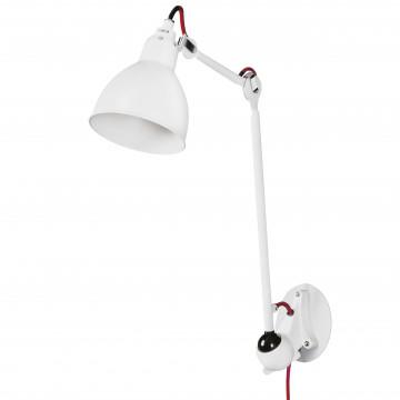Бра с регулировкой направления света Lightstar Loft 765616, 1xE14x40W, белый, красный, металл