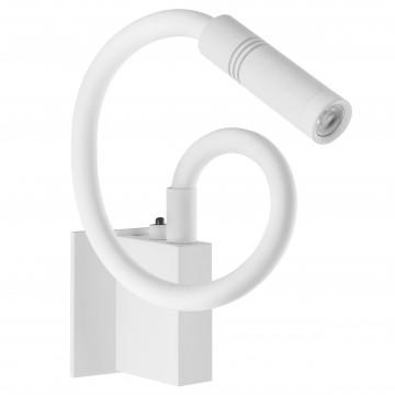 Настенный светодиодный светильник с регулировкой направления света Lightstar Muro 808616, LED 3W 3000K 190lm, белый, металл