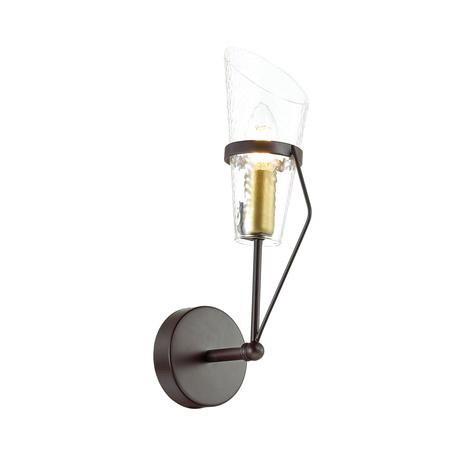 Бра Lumion Morgana 4404/1W, коричневый, прозрачный, металл, стекло