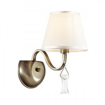 Бра Lumion Kimberly 4408/1W, бронза, бежевый, прозрачный, металл, текстиль, стекло