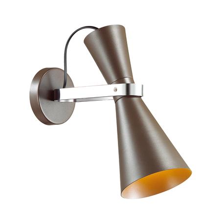 Настенный светильник с регулировкой направления света Lumion Quinn 4417/1W, коричневый, хром, металл