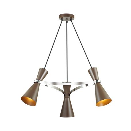 Подвесная люстра Lumion Quinn 4417/3, 3xE27x60W, коричневый, металл