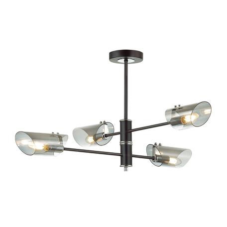 Потолочная люстра Lumion Nolan 4402/4C, хром, черный, дымчатый, металл, стекло